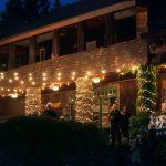Norht Star House veranda with festive lighting.